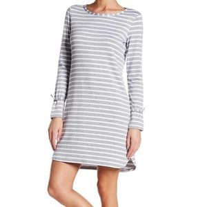 NWT Max Studio striped knee length shirt dress